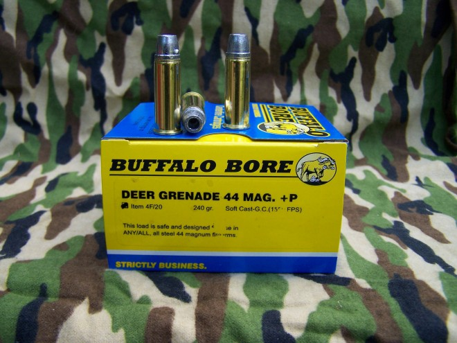 "The outstanding ""Deer Grenade"" from Buffalo Bore Ammunition - great for medium sized deer - it'll get the job done."