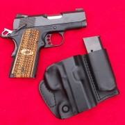 The little Kimber Raptor and the Blackhawk Products holster that carries a spare mag - a hard combination to beat.