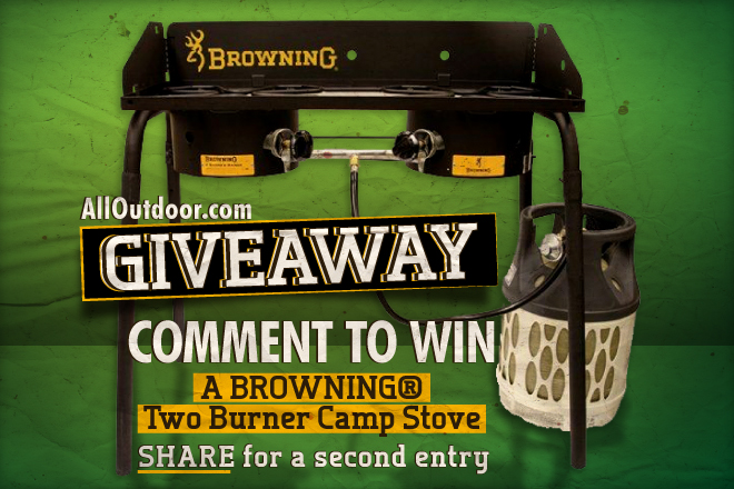 Win a Browning® Two Burner Camp Stove – Comment to Enter!