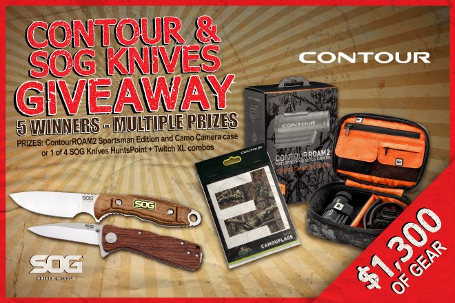 CONTOUR and SOG Knives Giveaway
