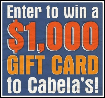 Win a $1,000 Gift Card to Cabela's – Comment to Enter!
