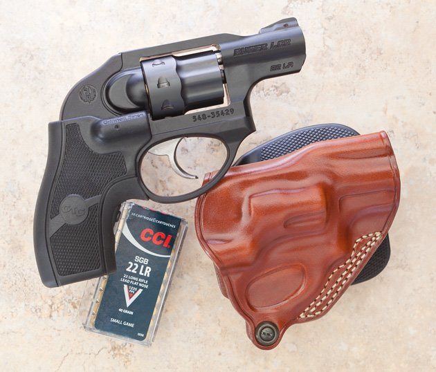Ruger LCR in 22LR fits the same holsters as the 357Mag model.