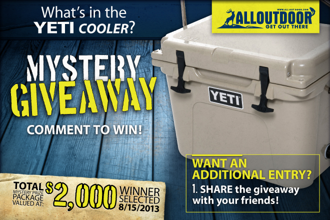 Mystery Giveaway – What's in the YETI Cooler?