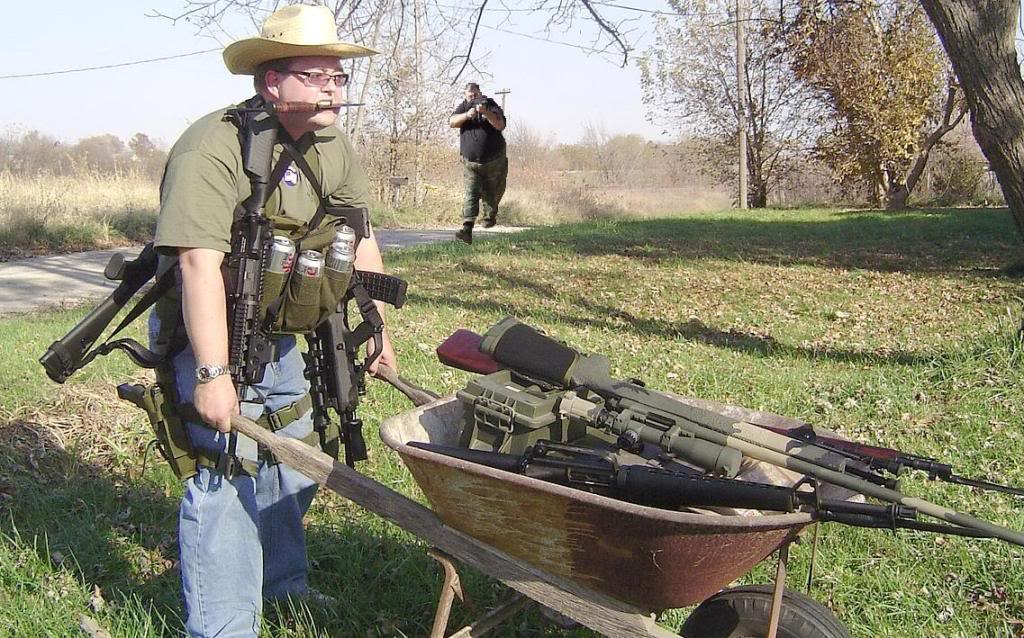 This may be the greatest survivalist photo on the Internets