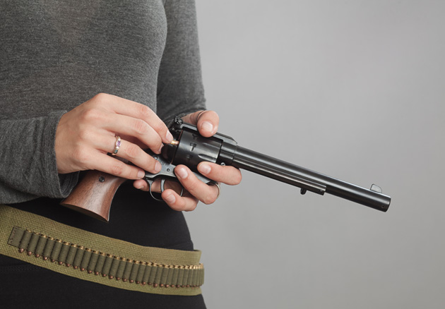 Loading most single-action revolvers through the gate is slower than with swing-cylinder double action guns, but not by much.