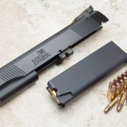 15-shot Iver Johnson .22 conversion kit for M1911 is robust and simple in operation.