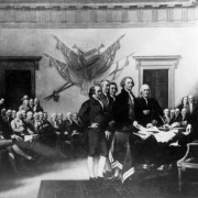 The Declaration of Independence. Painting by John Trumbull. Source: Flickr via ooocha
