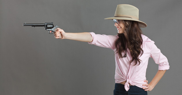With reduced power ammunition, good sights and fairly slim grips, single action revolvers make great introductory guns for new shooters.