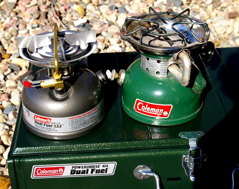Coleman DUAL FUEL SPORTSTER II PETROL Camping Stove 533 with Carry Case