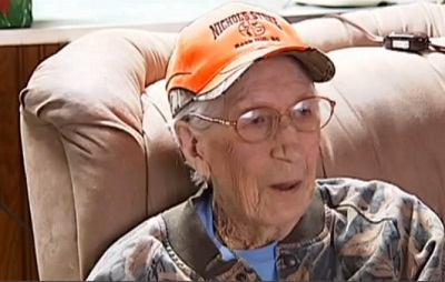 98-Year-Old Granny Still Kicks Butt at Hunting