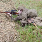 WW2 vintage Mosin sniper rifle isn't particularly accurate, but it was adequate because Soviet snipers tended to shoot from closer range than their competitors.