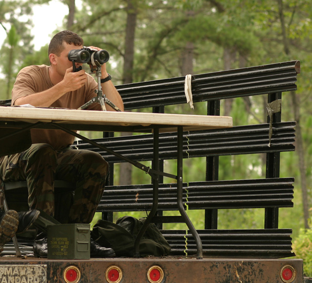 In sniper school, the soldiers knew they were being watched. Would you notice a human observer, a game camera or a CCTV without being prompted?