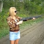 Woman and Shotgun
