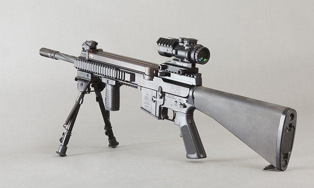 Blowback variant in 5.7x28 varmint control caliber, uses FN P90 magazines