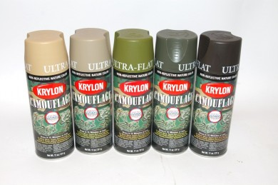 DIY How To Do Krylon Multi Cam Type Camouflage Paint Job