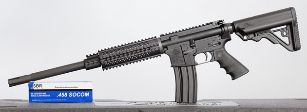 458SOCOM rifle for large game uses standard 5.56 magazines