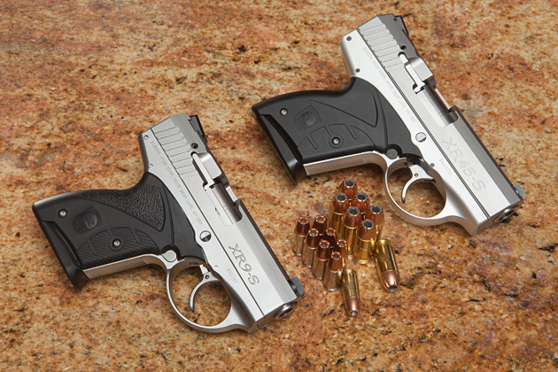 Not only are the XR45 and XR9S pistols nearly identical in side, but they also produce similar mild levels of recoil.