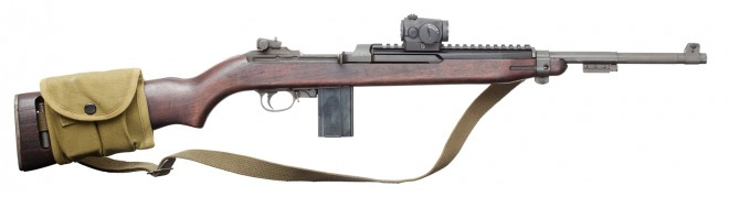 AImpoint T1 on a wartime production carbine. With two spare 15-rounders, this weapon makes a competent self-defense tool.