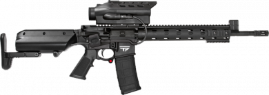 The TP AR 300 300 AAC BLACKOUT, one of TrackingPoint's PGF models.