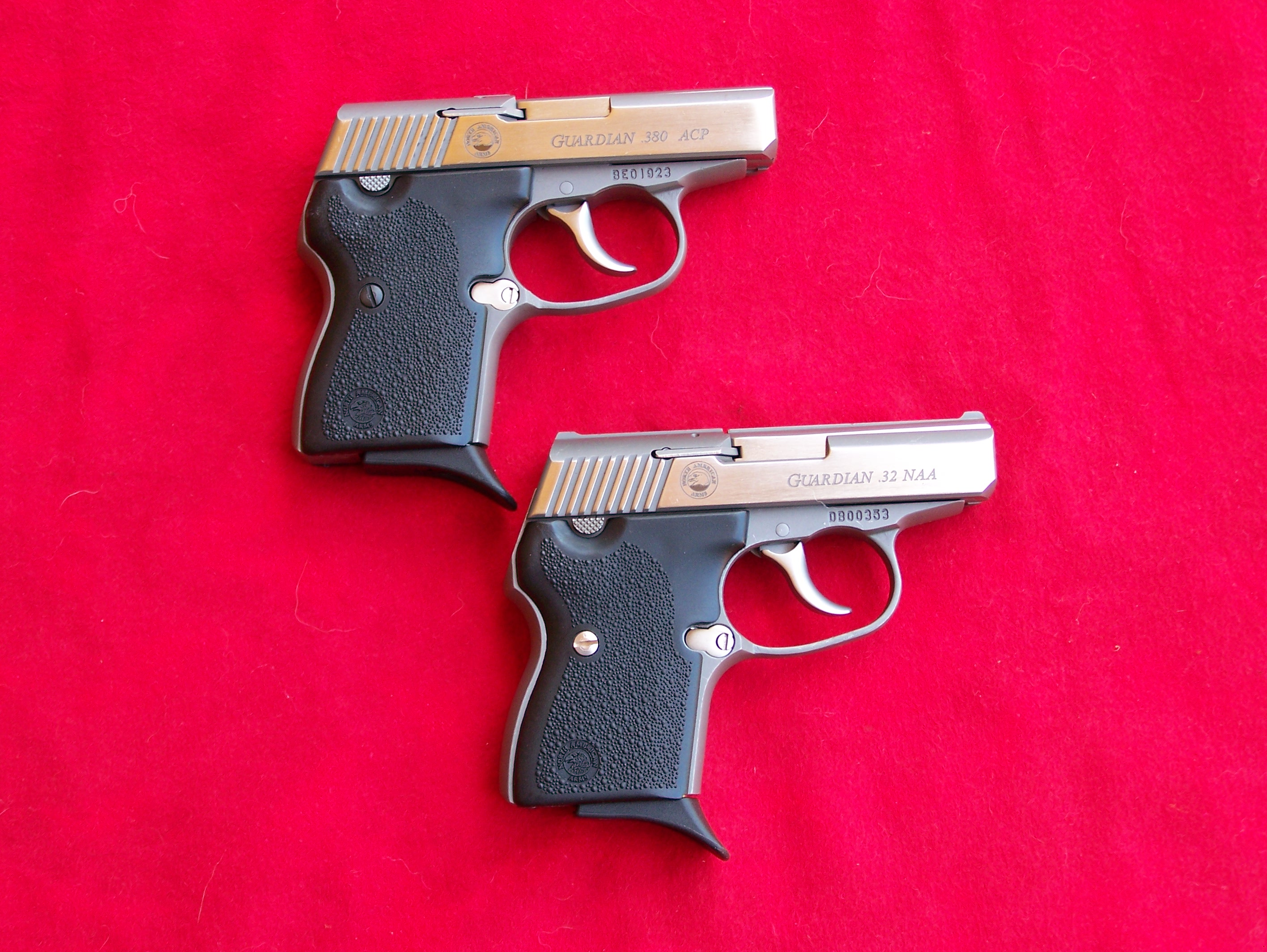 380 ACP and .32NAA Guardian Pistols North American Arms