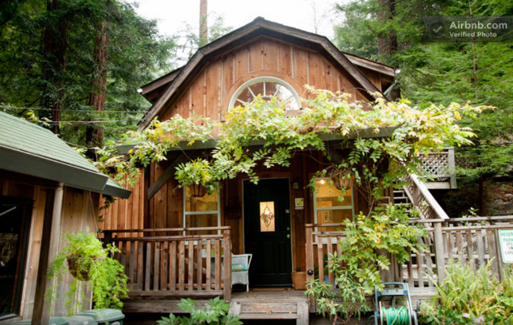 This Little Santa Cruz Cabin Is More Rustic On The Outside Than On The  Inside, But Itu0027s Still A Quaint Little Home Within Close Distance Of The  Redwoods, ...