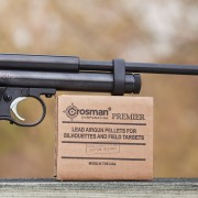 A budget entry into precision air pistol, Crosman 2300S is a single-shot bolt action powered by a CO2 cartridge.