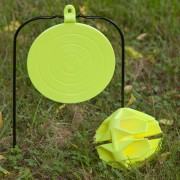 8-inch swinging plate and  Hex Ball Ground Strike targets.