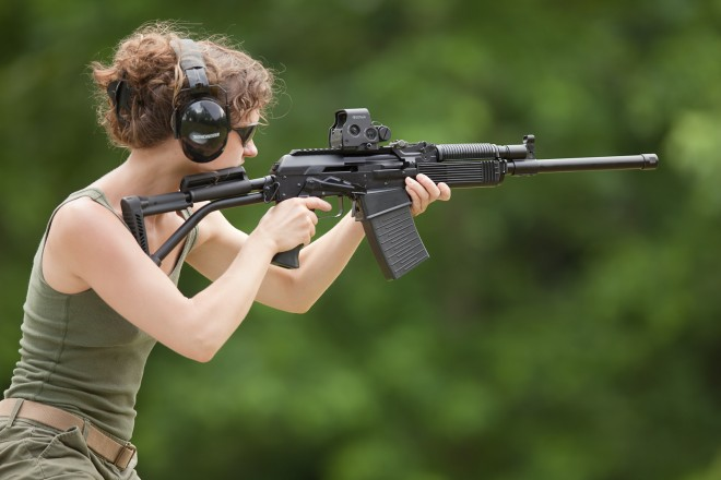 ...as well as EOTech, more suitable for aerial shooting.