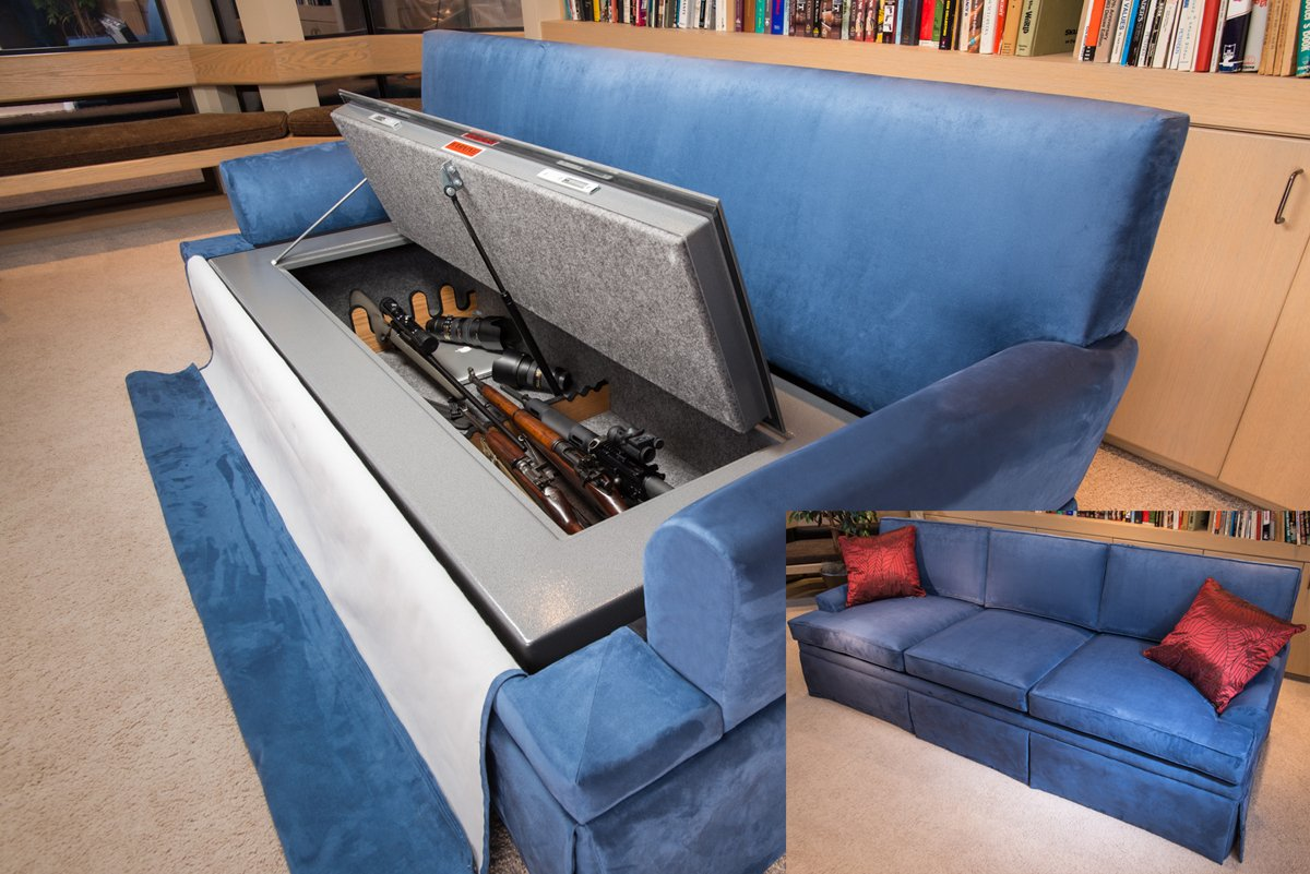 CouchBunker Custom Sofa Couch Safe & Hiding in Plain Sight: Furniture to Hide Your Guns - AllOutdoor ...