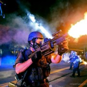 Grenade Launcher in use at Ferguson. MO