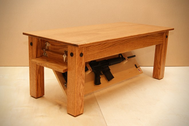 Oak Coffee Table by New Jersey Concealment Furniture