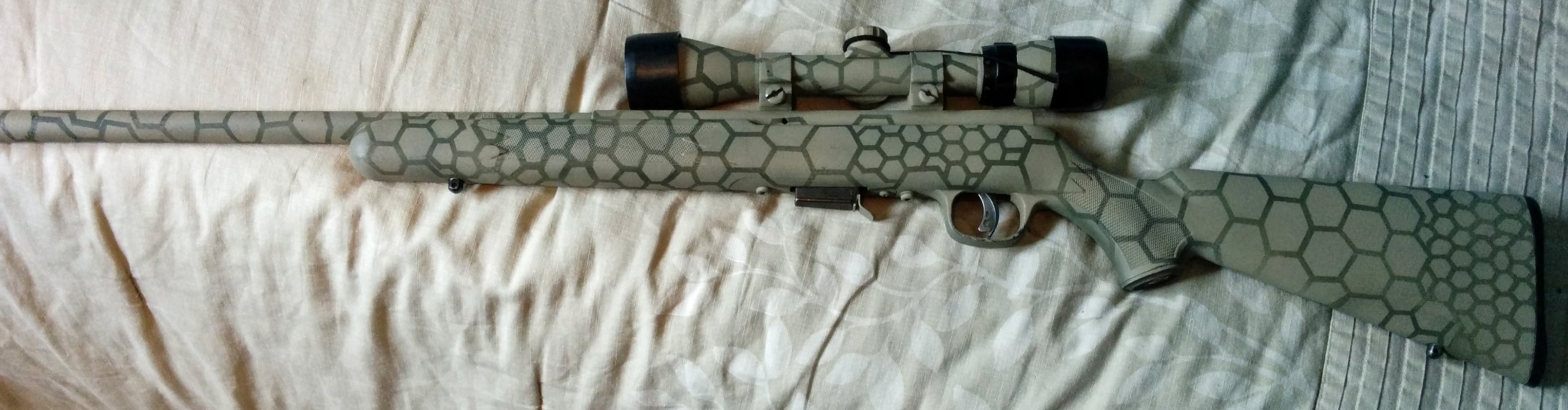 Diy Too Much Time On Your Hands Paint Gun Alloutdoor How To Build Magnetic Heres An Overall Pic Of The Hexagon Painted Rifle