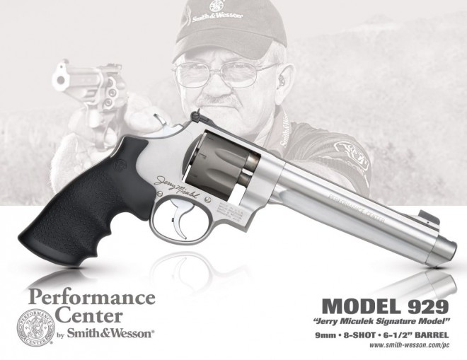 "Jerry Miculek Signature Model 929 8-shot 9mm revolver with 6.5"" barrel"