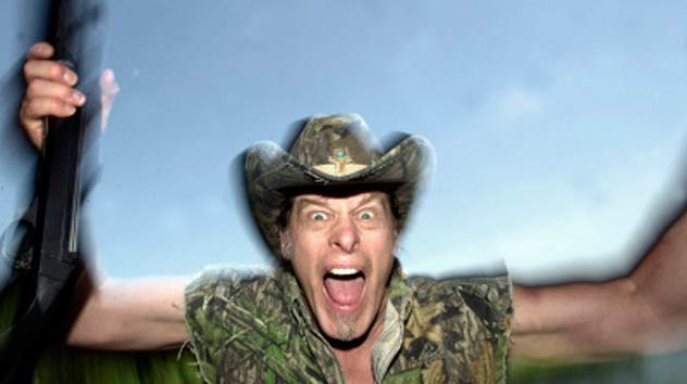Ted Nugent Acting Crazy With a Gun
