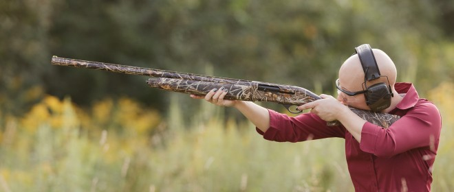The light weight and good balance make it easy to sport the right stance for rocking with the (mild) recoil.