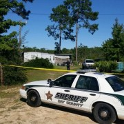 Bay County Sheriff's Officers at the Scene.