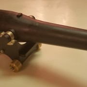 A finished homemade working model of a cannon.