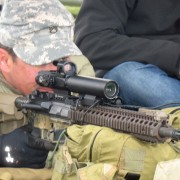 RAZAR-modified scope being tested.