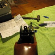Rear Tech-Sight on Ruger 10/22