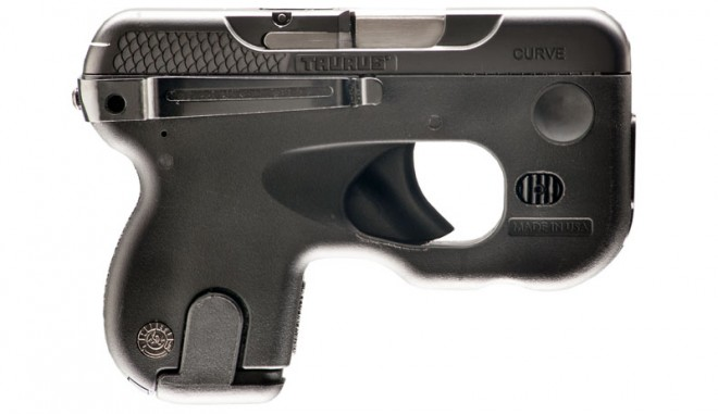Right side of Taurus Curve pistol.