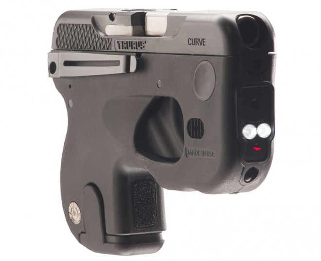 Right front view of Taurus Curve pistol.