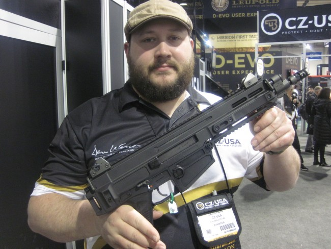 CZ-USA Scorpion EVO 3 S1 and 805 Bren PS1Pistols at the 2015 SHOT Show