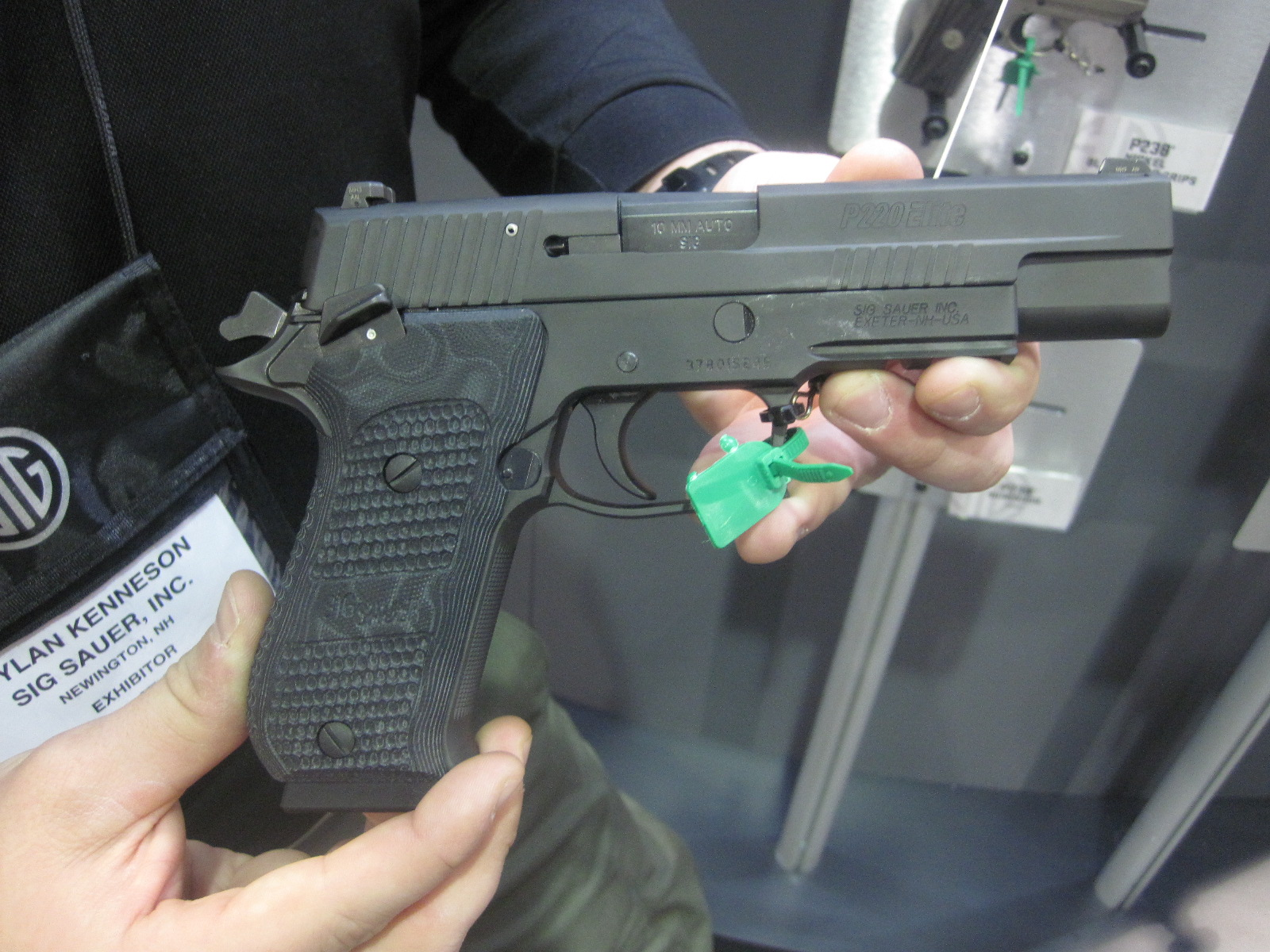 The SIG SAUER 10mm P220 Pistol at the 2015 SHOT Show