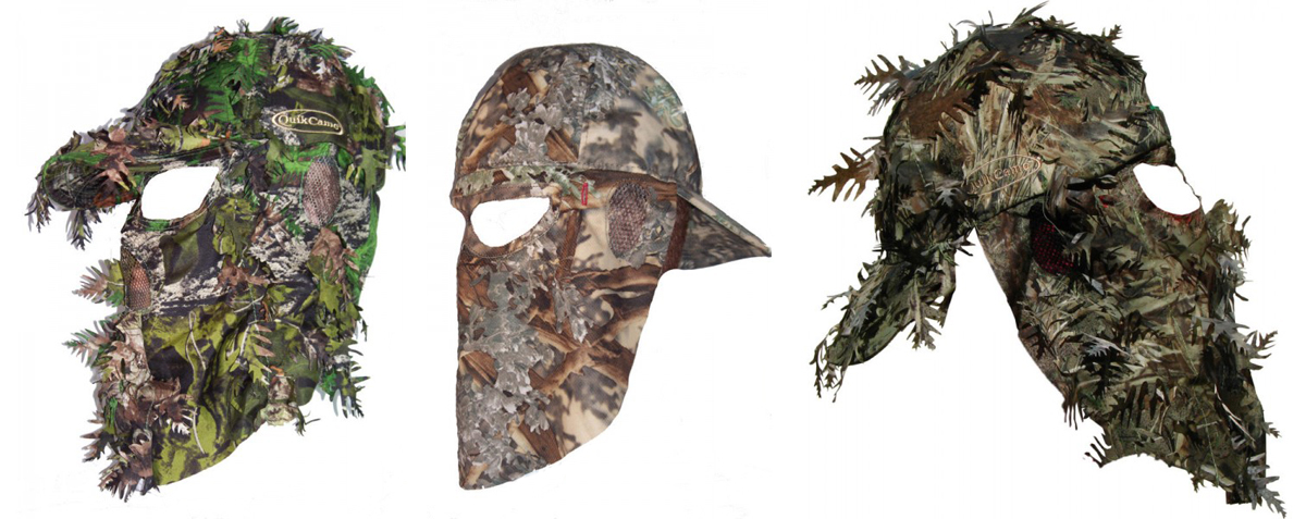 QuikCamo – Hunting Face Masks Integrated Into Caps