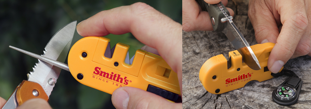 Sharpening with the Smith's Pocket Pal X2.