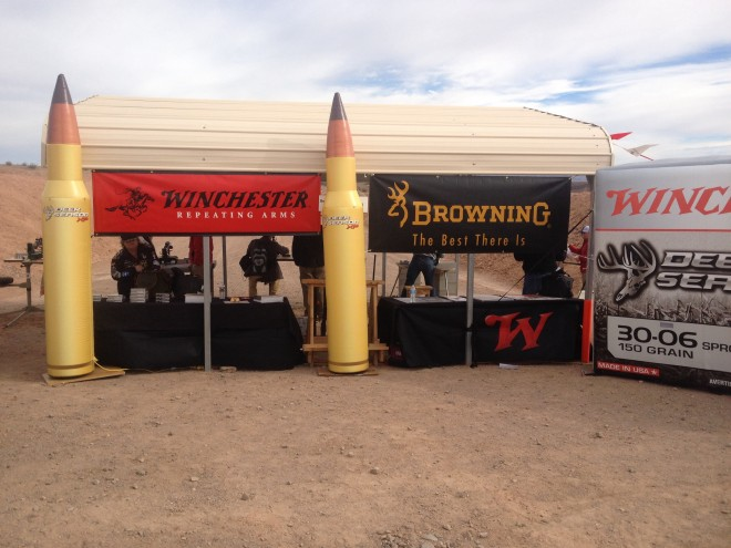 Winchester Deer Season XP Display at 2015 SHOT Range Day