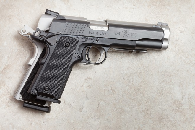 1911-380 on top of a regular 1911 in 45ACP.