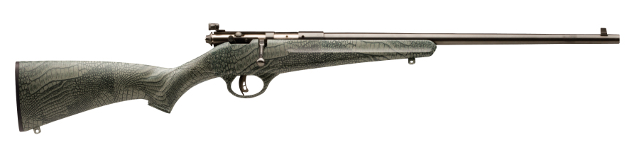 The Landry Rascal is a single-shot 22 with factory peep sight.