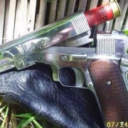 This seems to be a break-open 12 gauge pistol, supposedly from Thailand. Wow.
