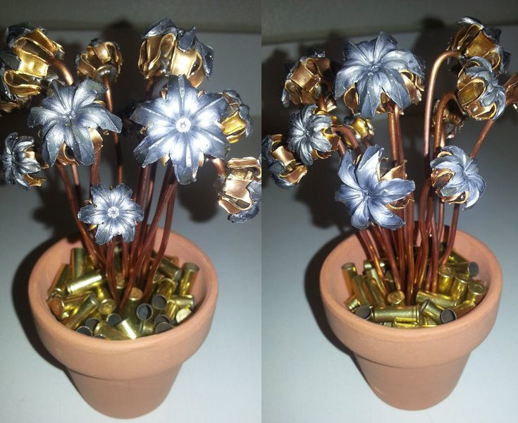 Bang! Beautiful Bloomin' Bullet Bouquets